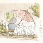 極上の癒し!日本画家が描くほっこり笑顔な猫あるある