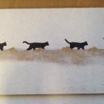 これはびっくり!クロネコヤマトの宅急便コンパクトで黒猫勢揃い