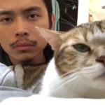 飼い主と一緒にノリノリで音楽を楽しむ賢い猫
