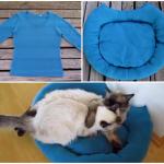 猫のための冬支度!不要セーターをザクザク縫ってあったか猫ベッドを作る!